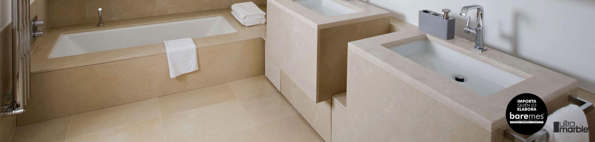 De Marmol para baños? Mejor Ultramarble|Mesadas baremes