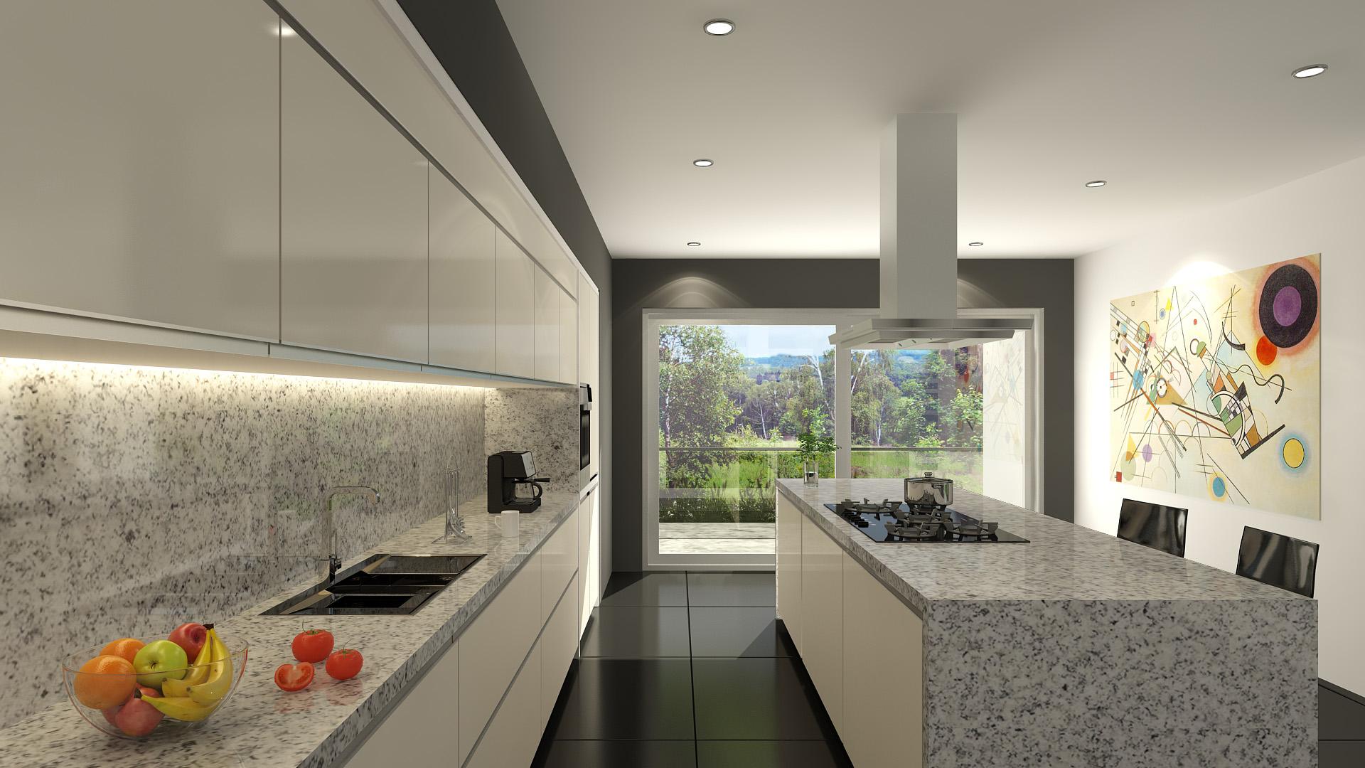 Mesadas de granito gris mara para cocina mesadas baremes - Encimeras de marmol para cocinas ...