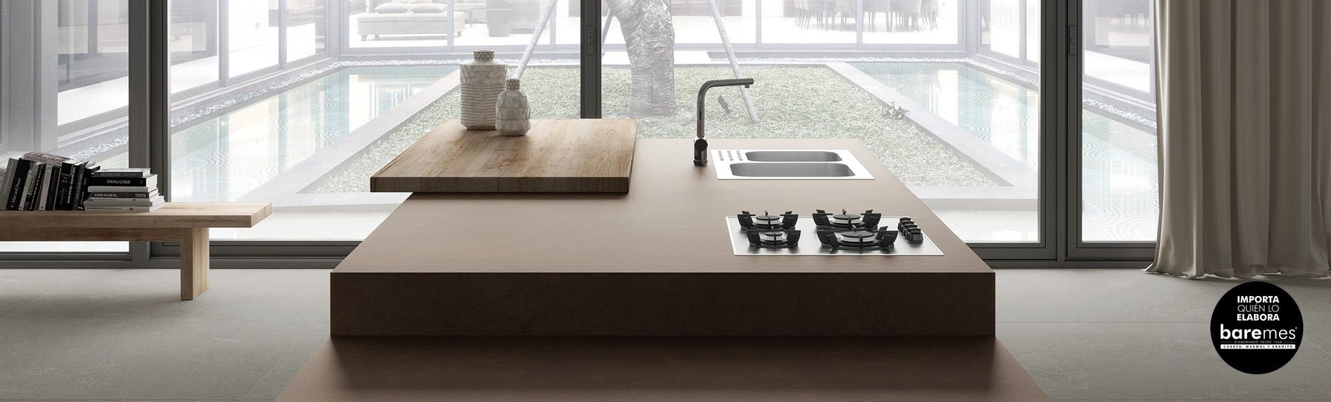 Mesas barra desayunador isla para cocina moderna mesadas for Mesadas de colores
